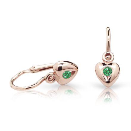 Babyohrringe Danfil C1556 Herzchen Rosagold, Emerald Green, Die Brisur