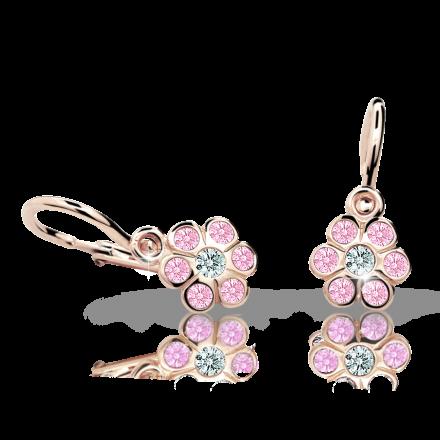 Babyohrringe Danfil C1737 Blumensträußenen Rosagold, Pink, Die Brisur